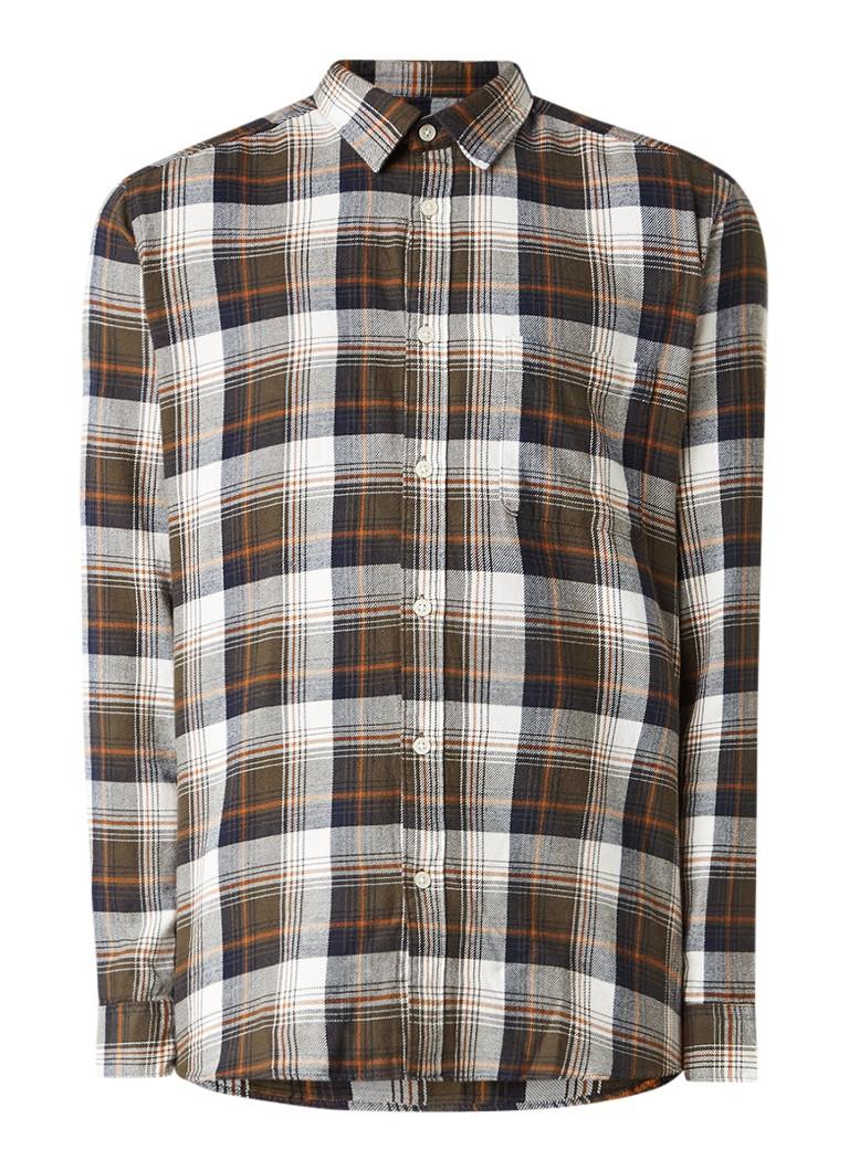 Selected Homme Slim fit overhemd met geruit dessin en borstzak