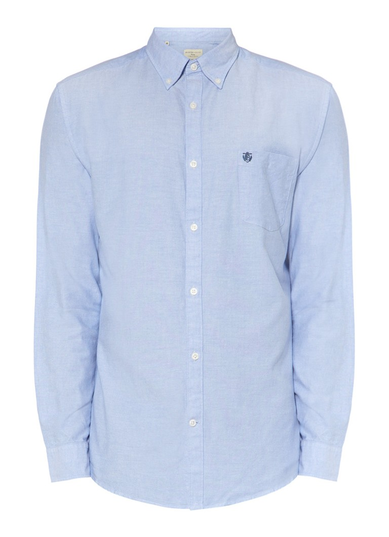 Selected Homme Regular fit Oxford overhemd Collect in blauw