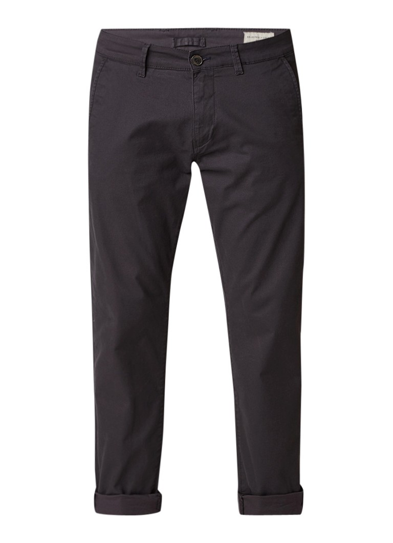 Selected Homme Three Paris chino in katoenblend