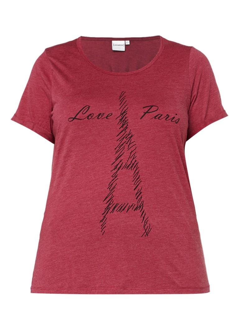 Junarose Nogue T-shirt met print zwart