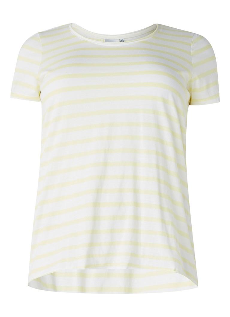 Junarose Holly T-shirt met streepdessin zwart