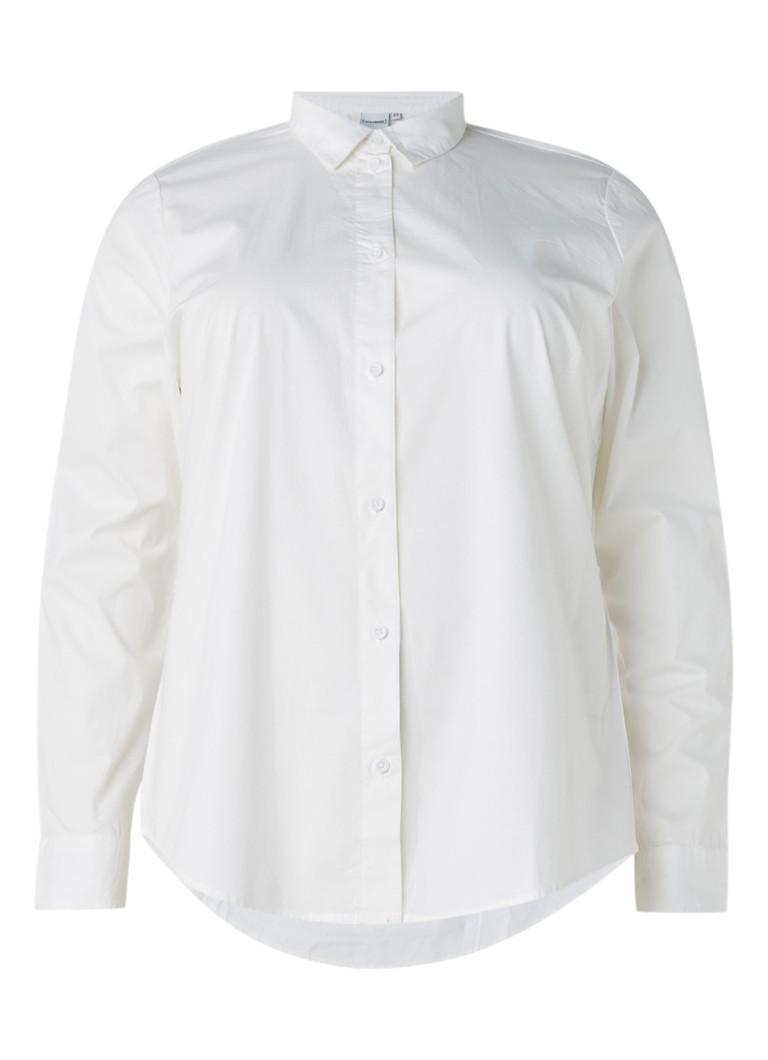 Junarose Hanne blouse van stretchkatoen zwart