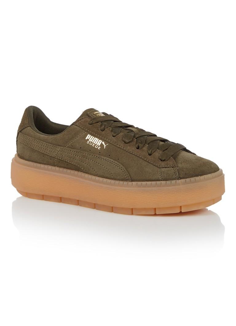 Puma Platform Trace sneaker van suède