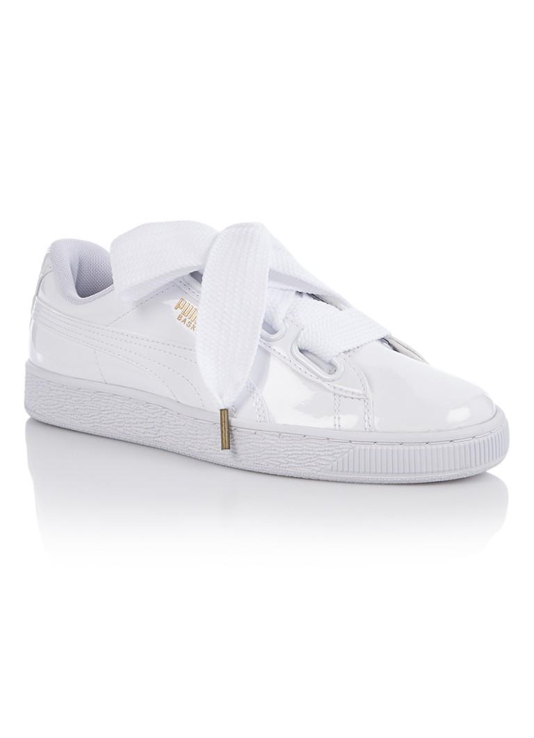 Puma Basket Heart sneaker met lak finish