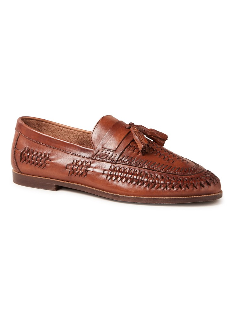 Dune London Burlingtons loafer van leer met tassel