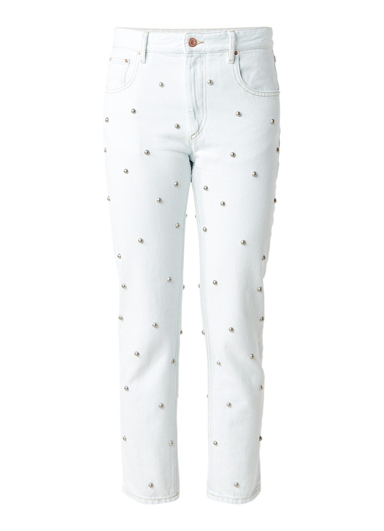 Isabel Marant Étoile Califfy high rise cropped slim fit jeans met studs