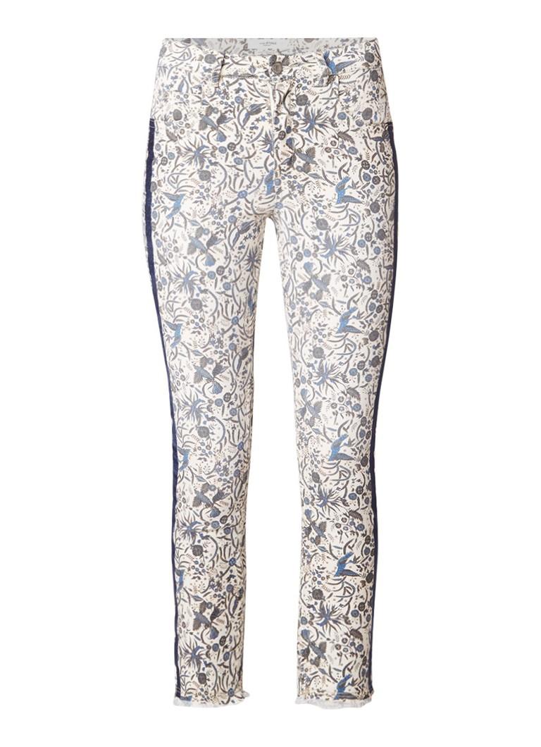 Isabel Marant Étoile Ugo high rise slim fit cropped jeans met bloemendessin