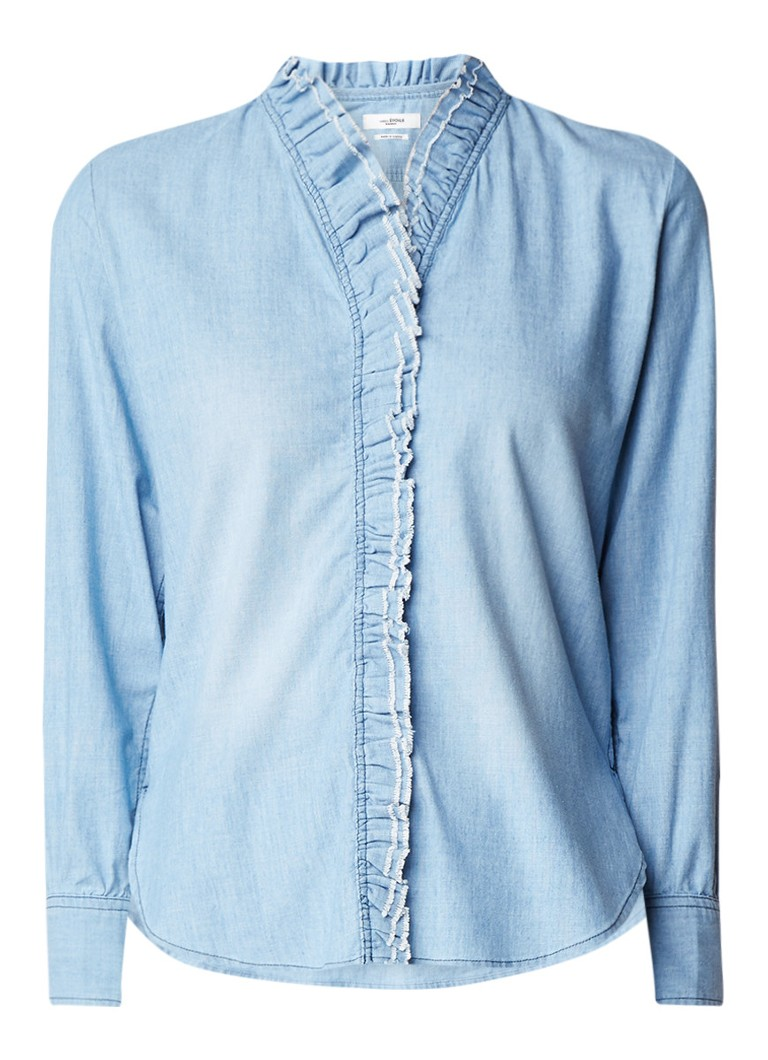 Isabel Marant Étoile Lawendy chambray blouse met ruches