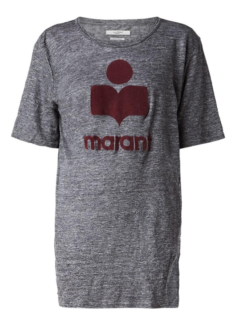 Tops Isabel Marant Étoile Kuta oversized T shirt met logo Grijs
