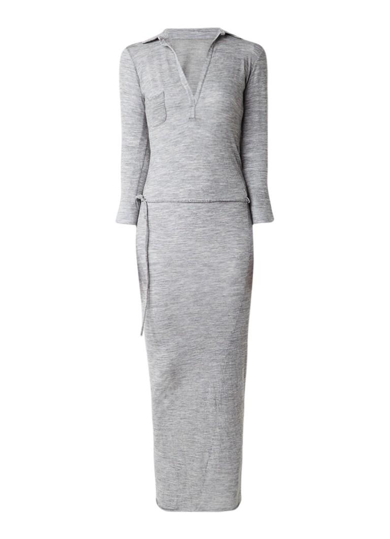 Humanoid Ateliers 15.25 maxi-jurk van scheerwol grijsmele