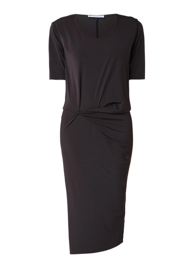 Humanoid Midi-jurk van jersey met draperie zwart