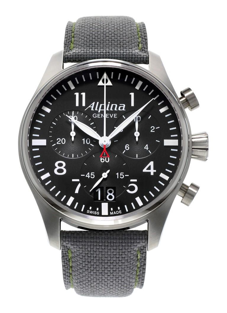 Alpina Horloge Startimer Pilot Chronograph Quartz AL-372B4S6