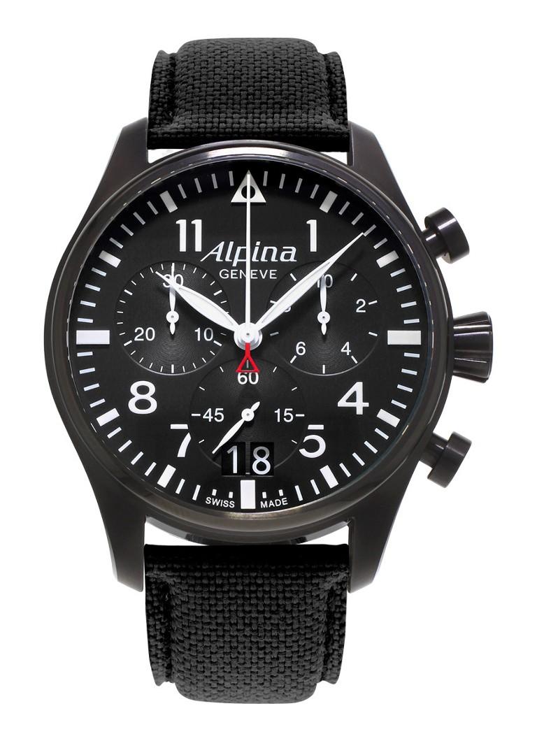 Alpina Horloge Startimer Pilot Chronograph Quartz AL-372B4FBS6
