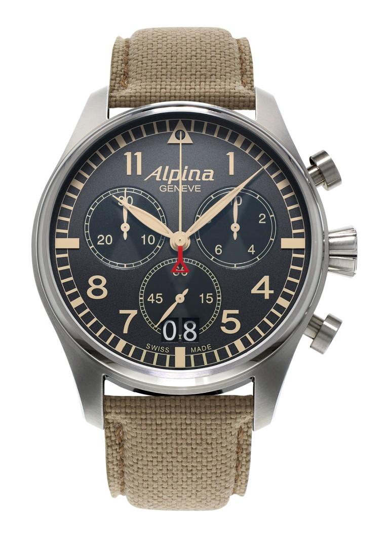 Alpina Horloge Startimer Pilot Chronograph Quartz AL-372BGR4S6