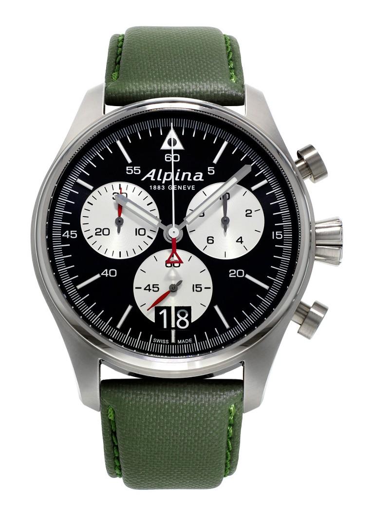 Alpina Horloge Startimer Pilot Chronograph Quartz AL-372BS4S6
