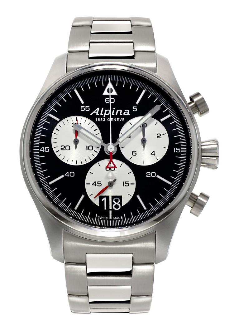 Alpina Horloge Startimer Pilot Chronograph Quartz AL-372BS4S6B