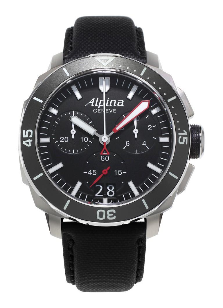 Alpina Horloge Seastrong Diver 300 Quartz AL-372LBG4V6