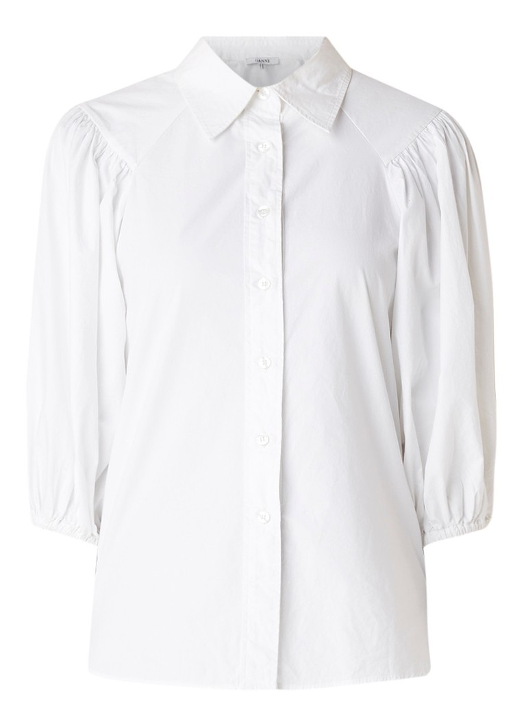 Image of Ganni Olayan blouse met pofmouw
