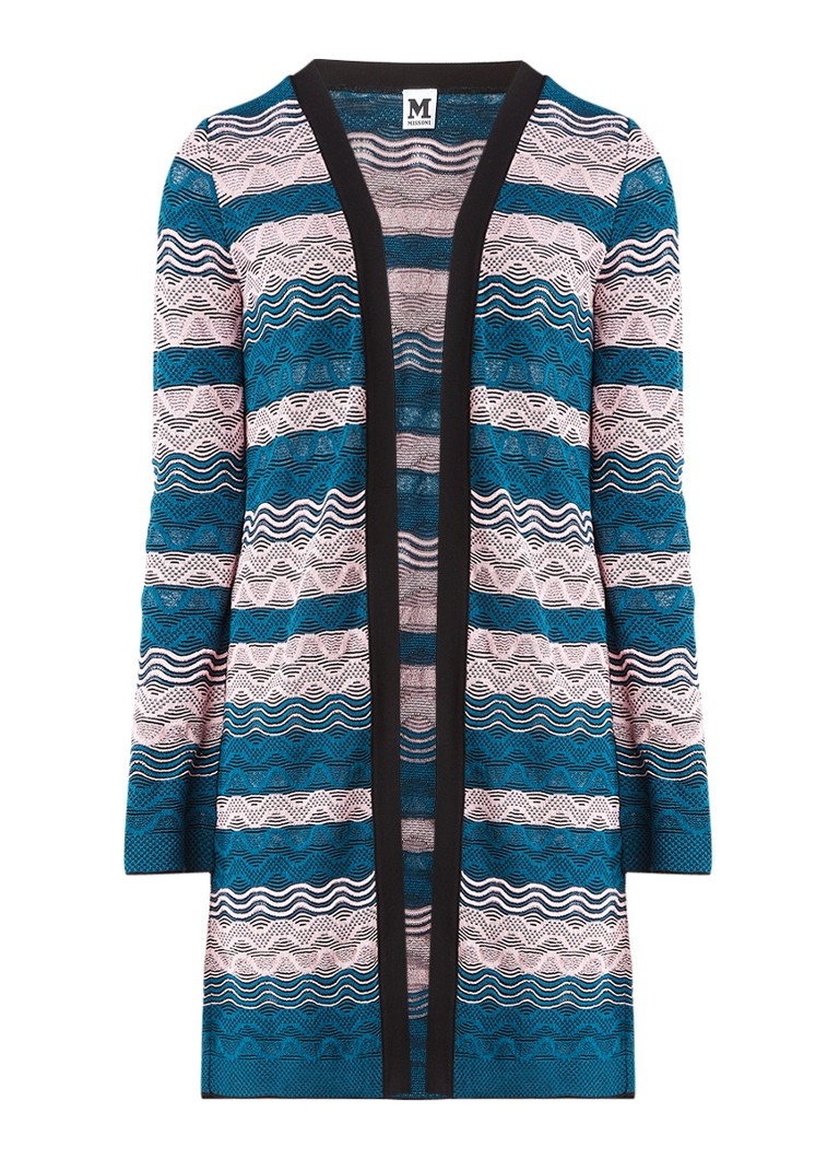 M Missoni Vest met opengewerkt zigzag dessin