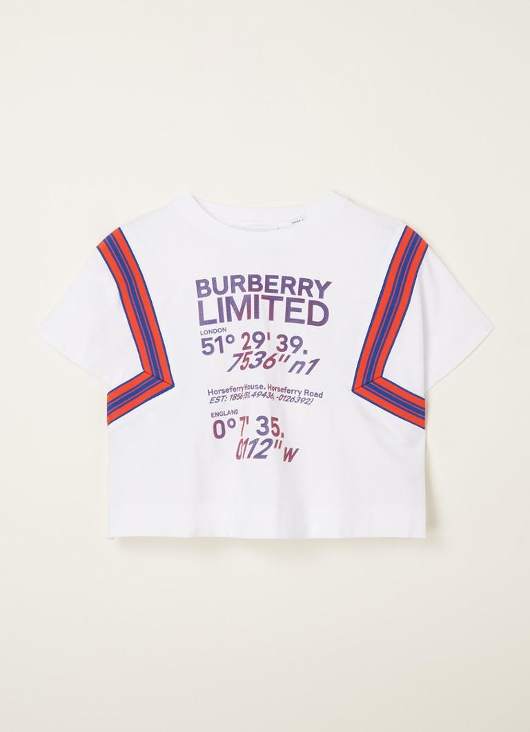 Cropped T shirt met 3D logoprint