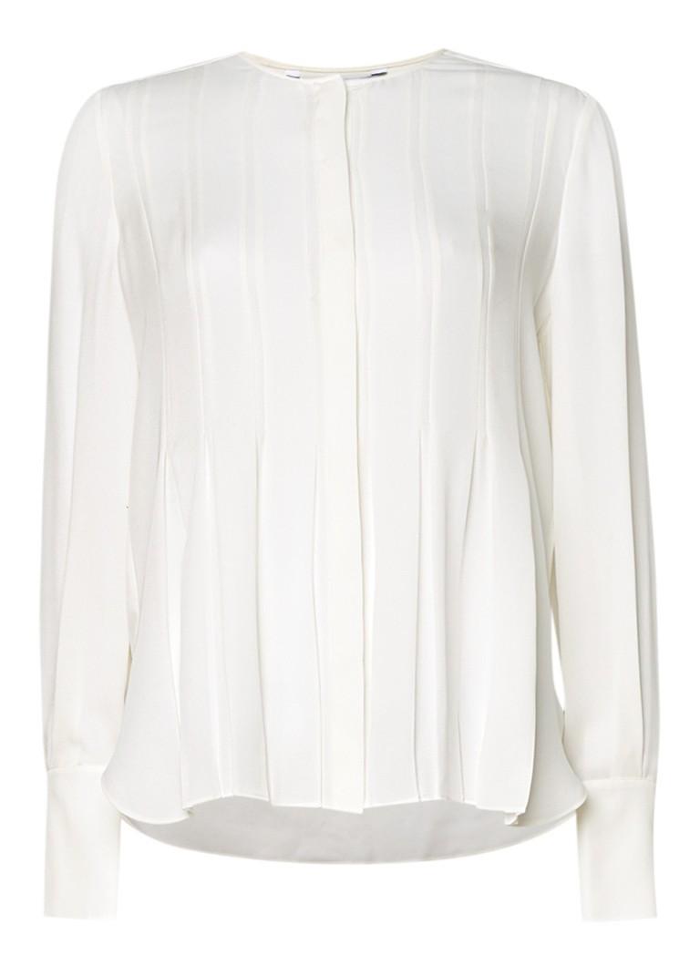 Diane von Furstenberg Vicky plissé blouse van zijde multicolor