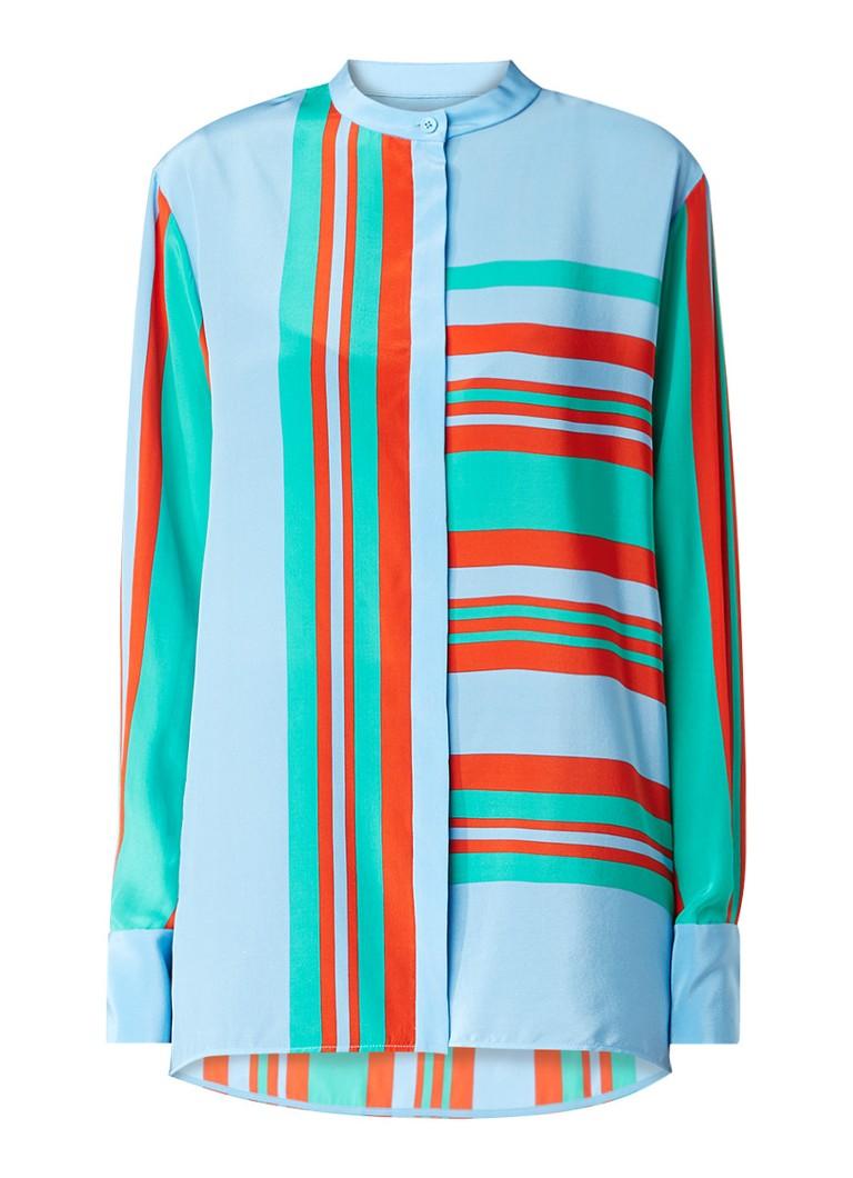 Diane von Furstenberg Oversized blouse met streepdessin multicolor