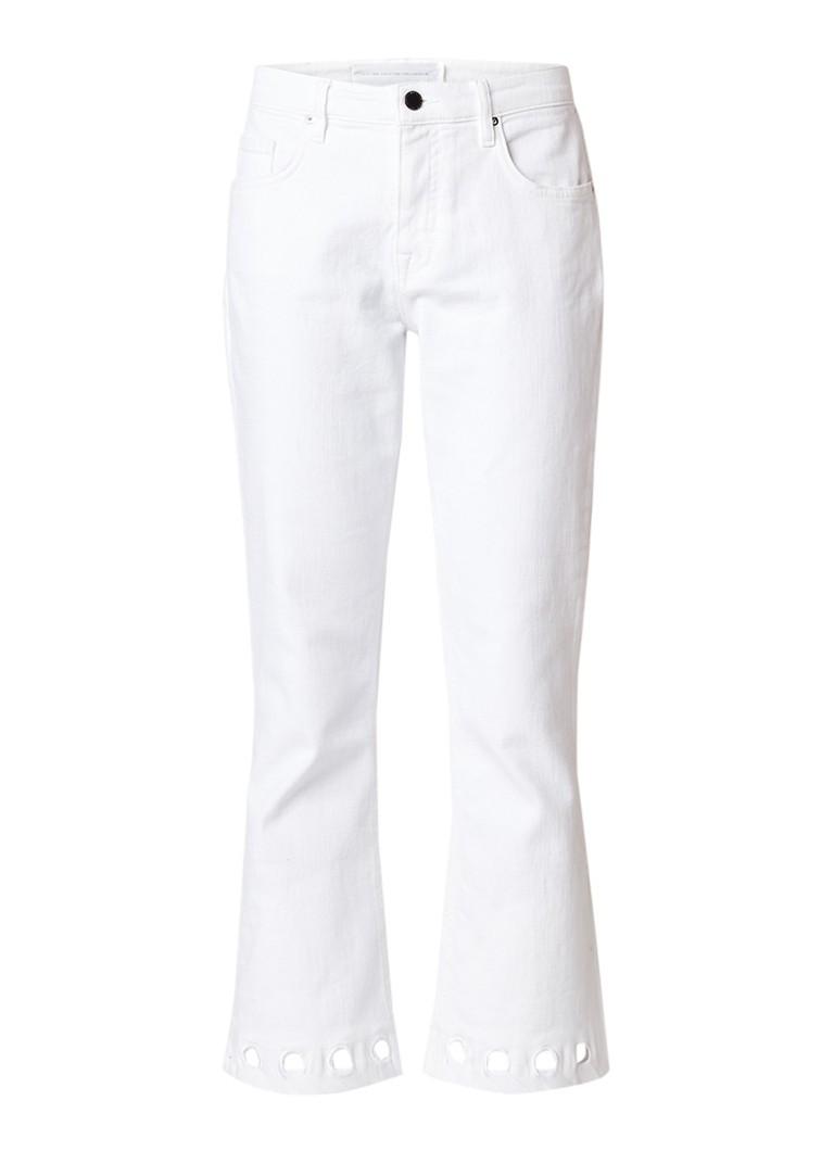 Victoria Victoria Beckham Mid rise kick flare jeans met opengewerkte details