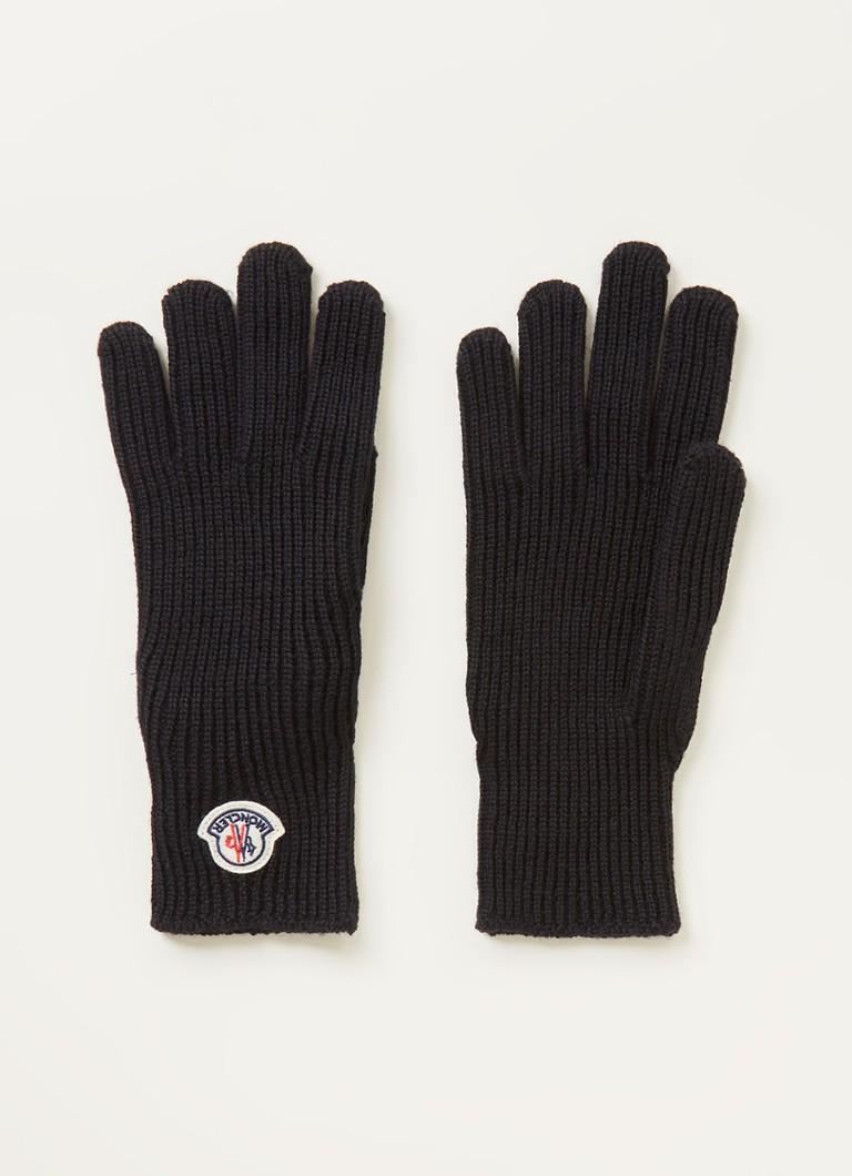 Moncler Ribgebreide handschoenen van wol