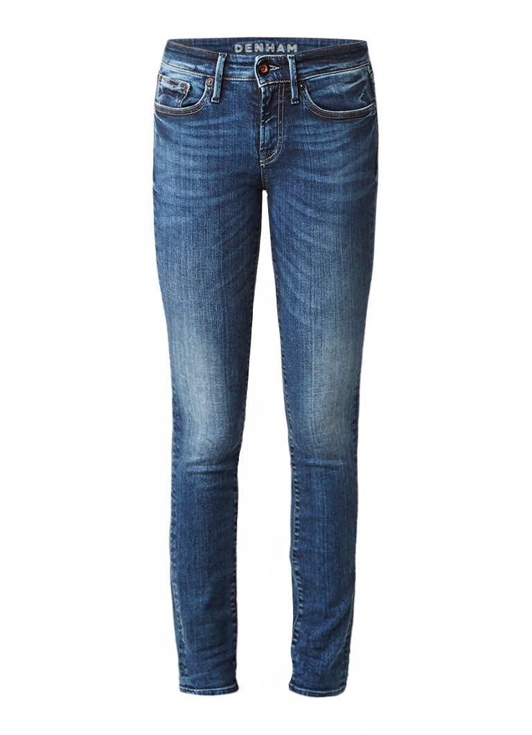 Denham Sharp mid rise slim fit jeans met faded look