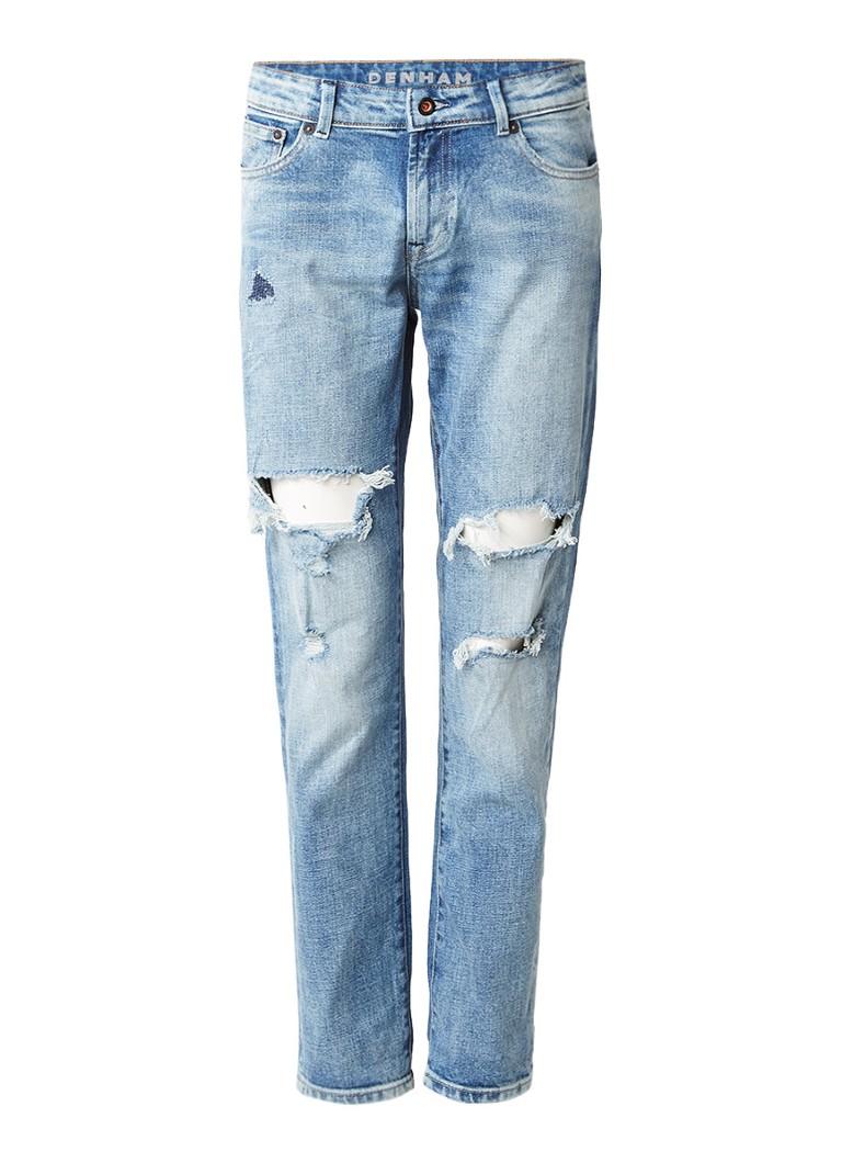 Denham Monroe girlfriend tapered jeans met destroyed details