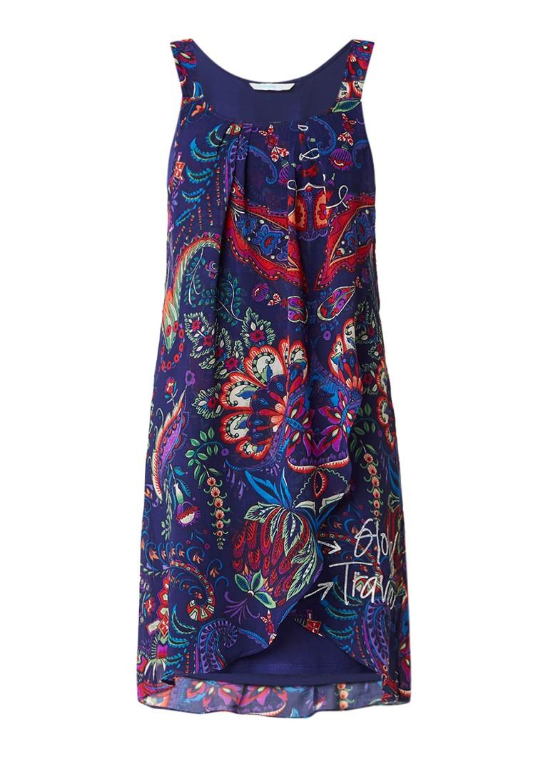 Desigual Valkiria jurk met overlay met dessin