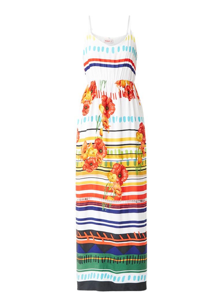 Desigual Sofia maxi-jurk met bloemendessin wit