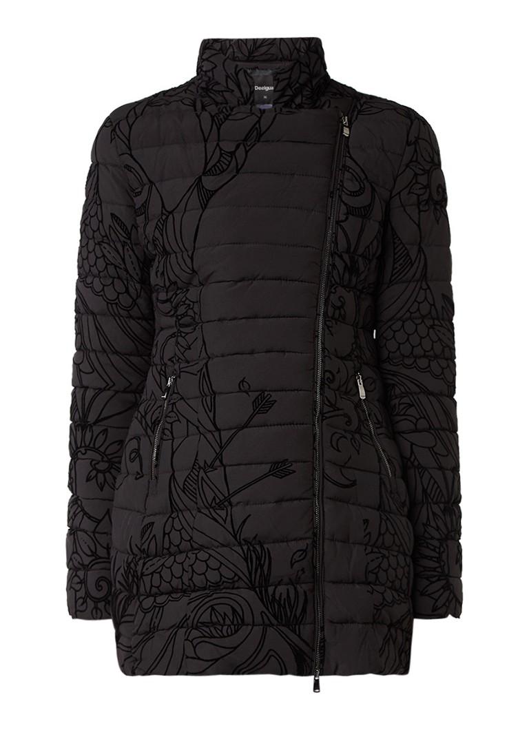 Desigual gewatteerde winterjas zwart