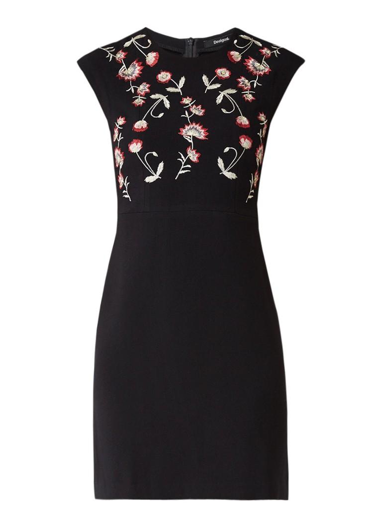 Desigual Sandruki mini-jurk met bloemborduring zwart