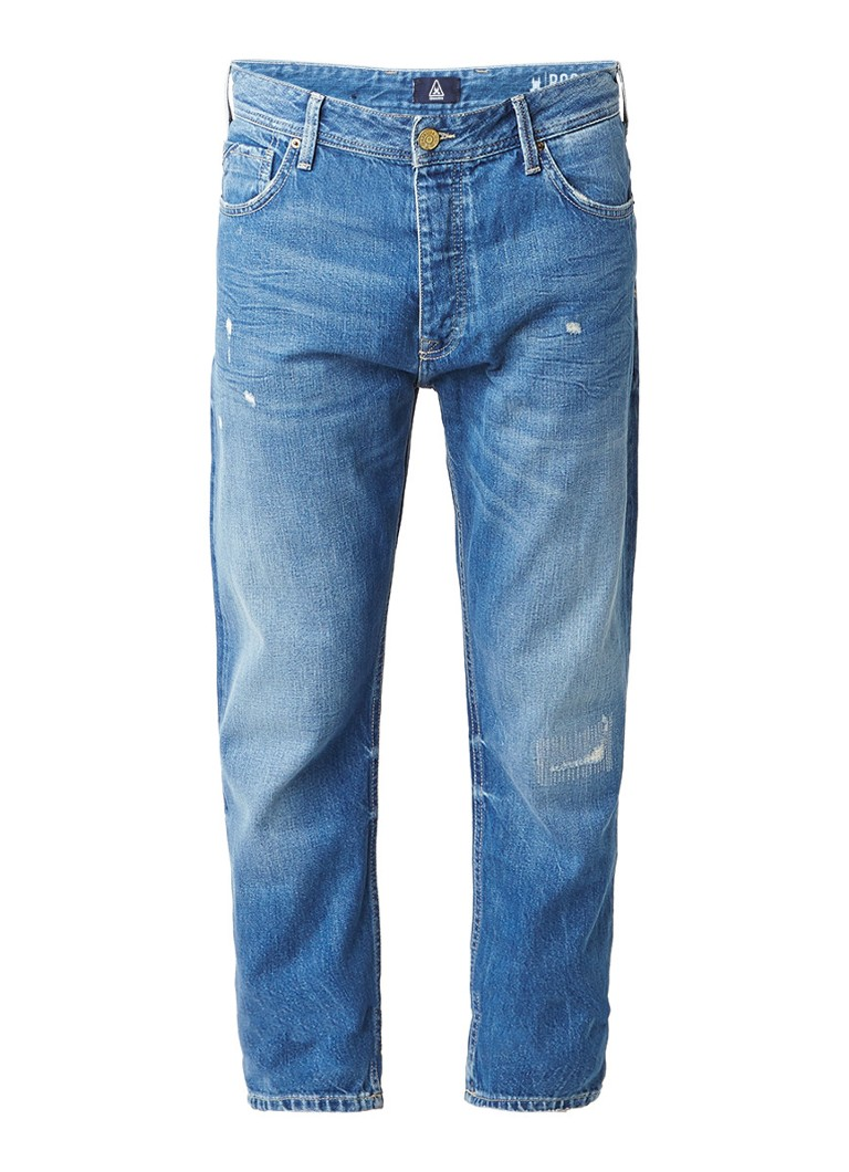 Gaastra Rocco high rise tapered fit jeans met faded look