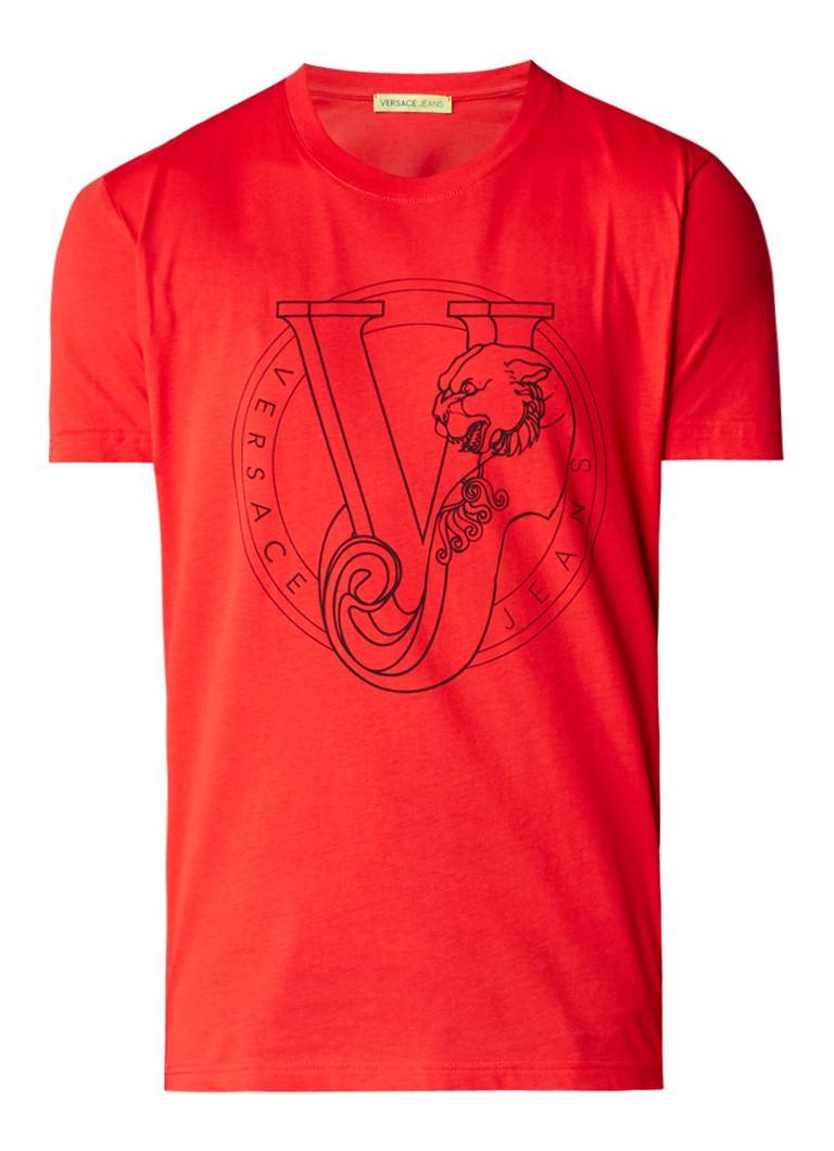 Versace Large Logo T-shirt van katoen