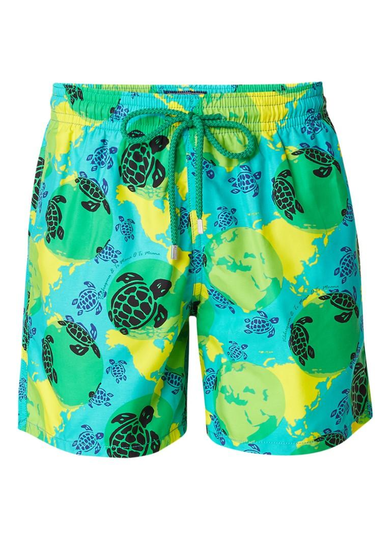 Vilebrequin Mappemonde zwemshorts met schildpaddessin