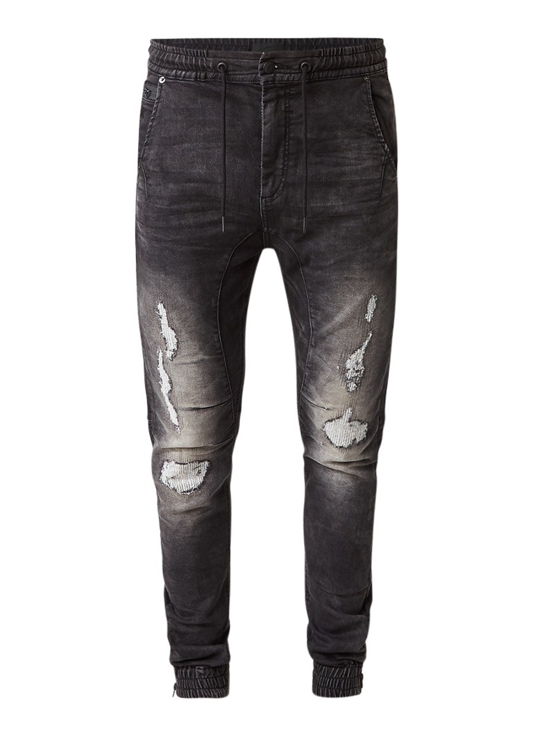 Chasin Jogger L slim fit joggjeans met destroyed details