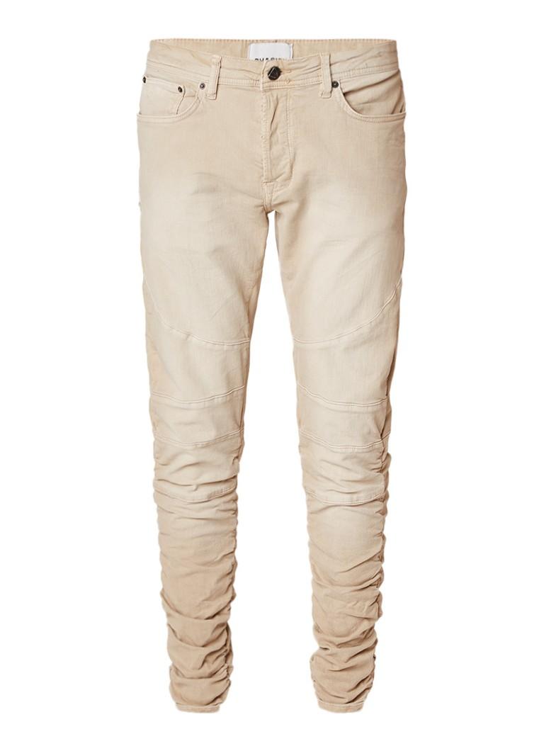 Chasin Lamar slim fit jeans met biker look