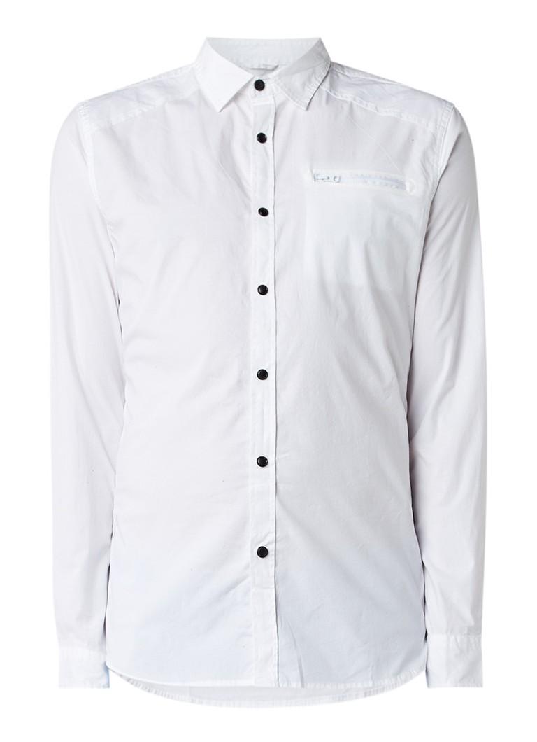 Chasin Stream slim fit overhemd met borstzak
