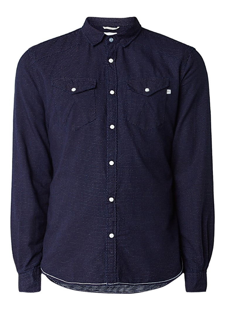 Chasin Pointer slim fit overhemd met gestipt dessin