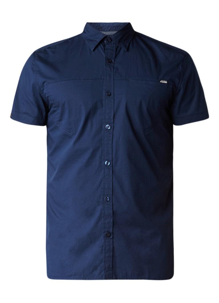 Chasin Finn slim fit overhemd met korte mouw