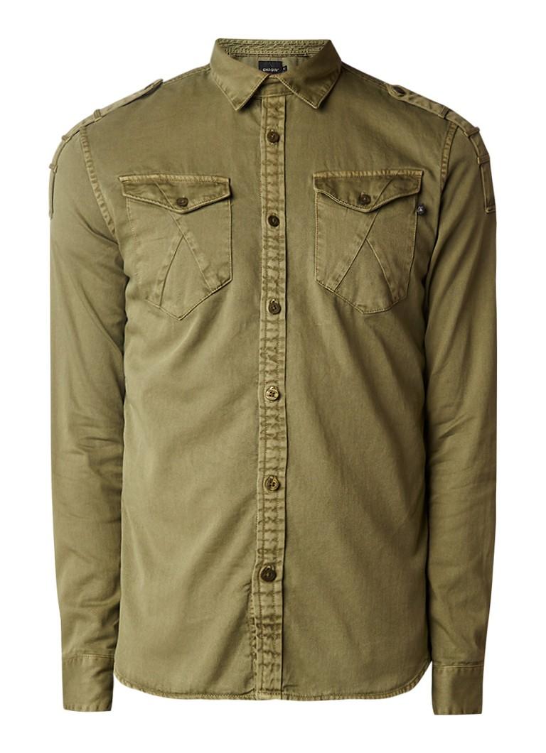 Chasin' Sierra regular fit denim overhemd met borstzak