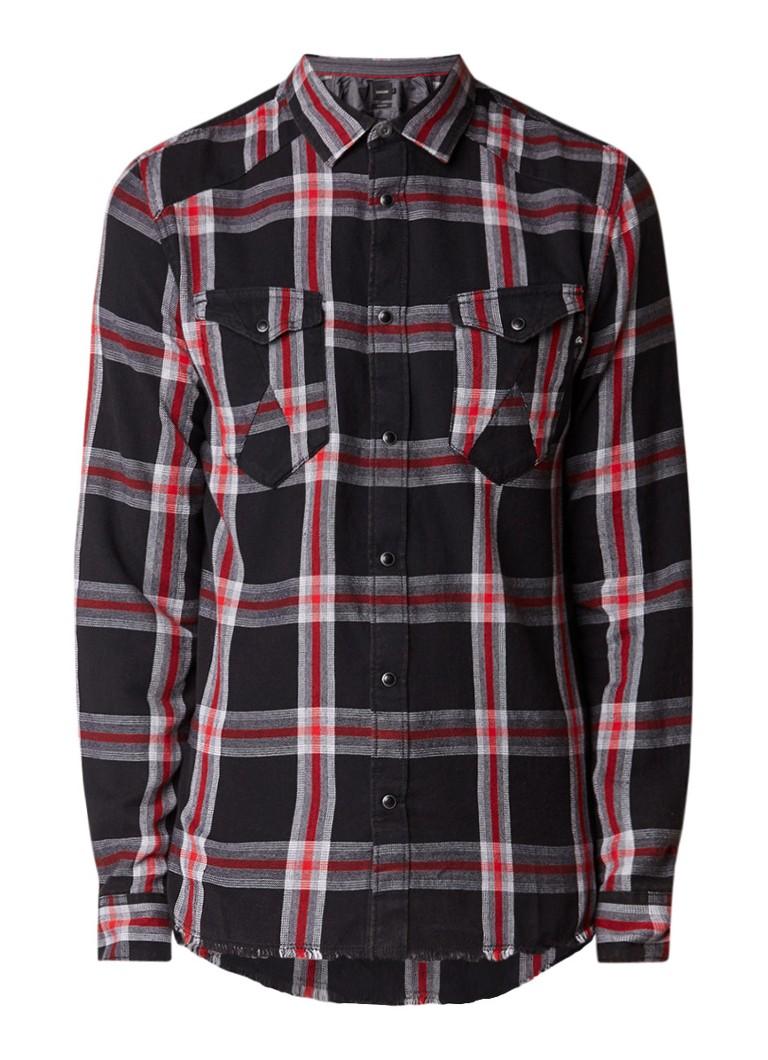 Chasin Baldy regular fit overhemd met ruitdessin