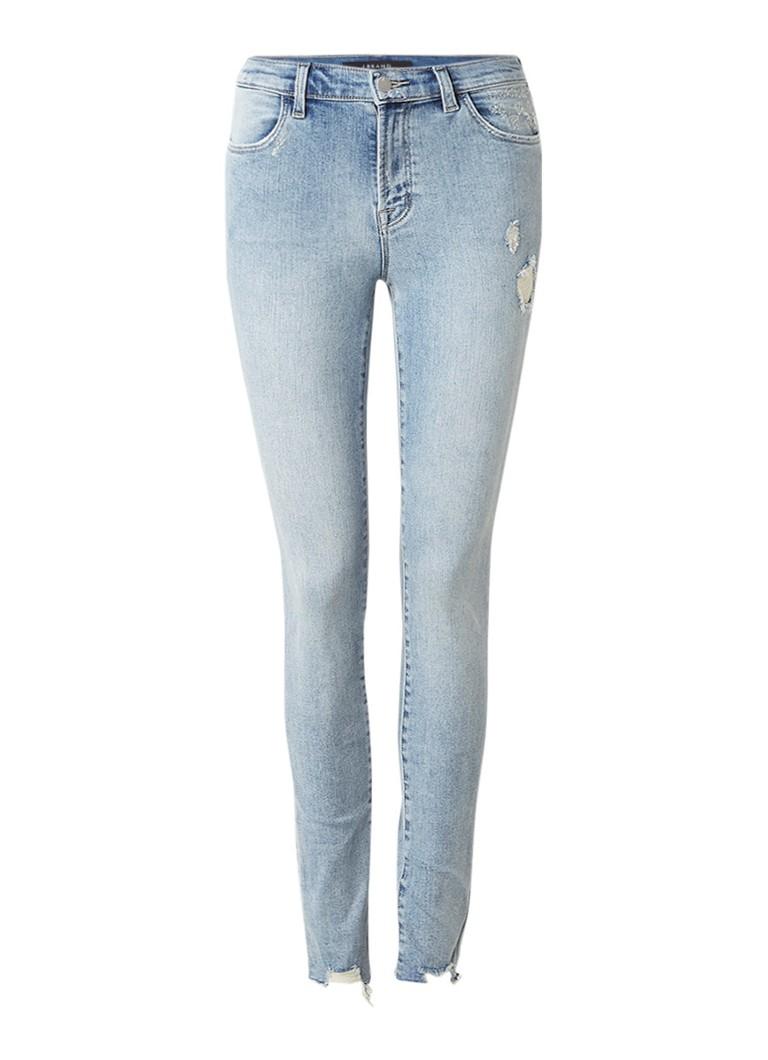 J Brand Maria high rise skinny jeans met destroyed details