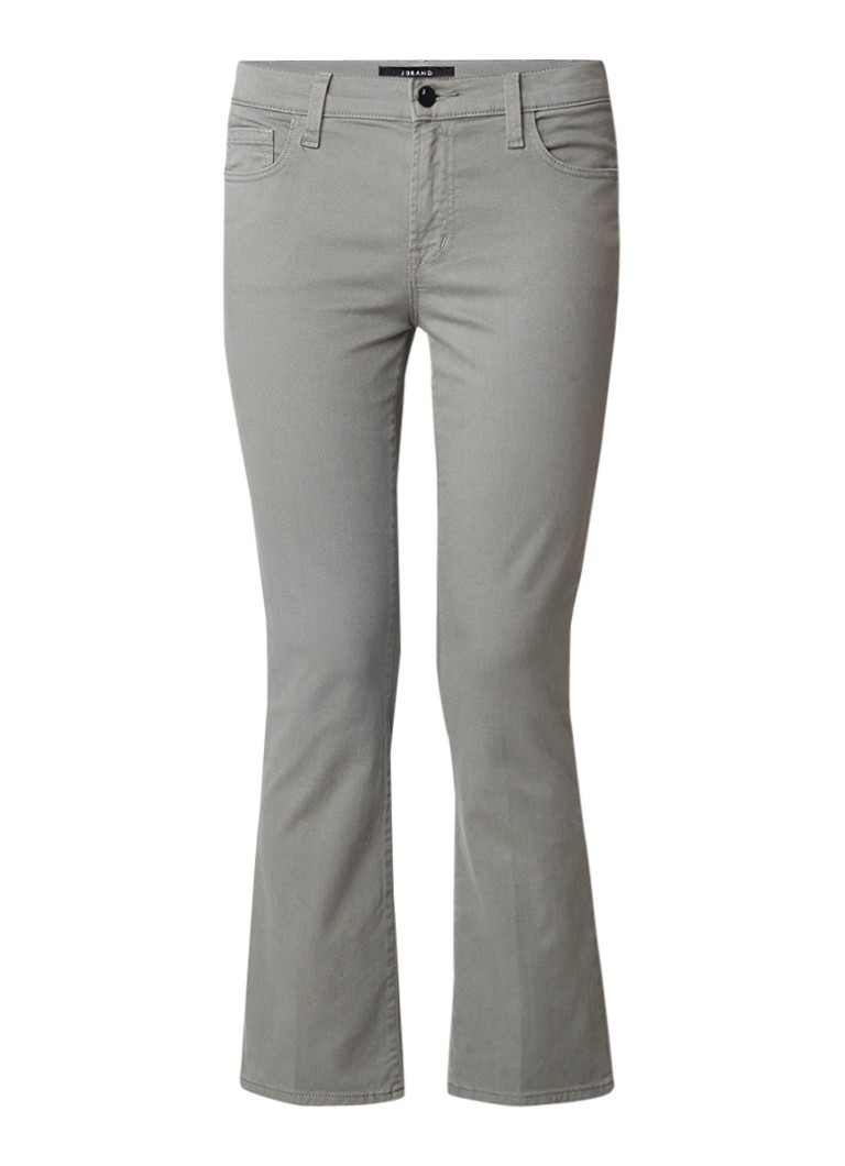 J Brand Selena high rise cropped bootcut jeans in Castor Grey