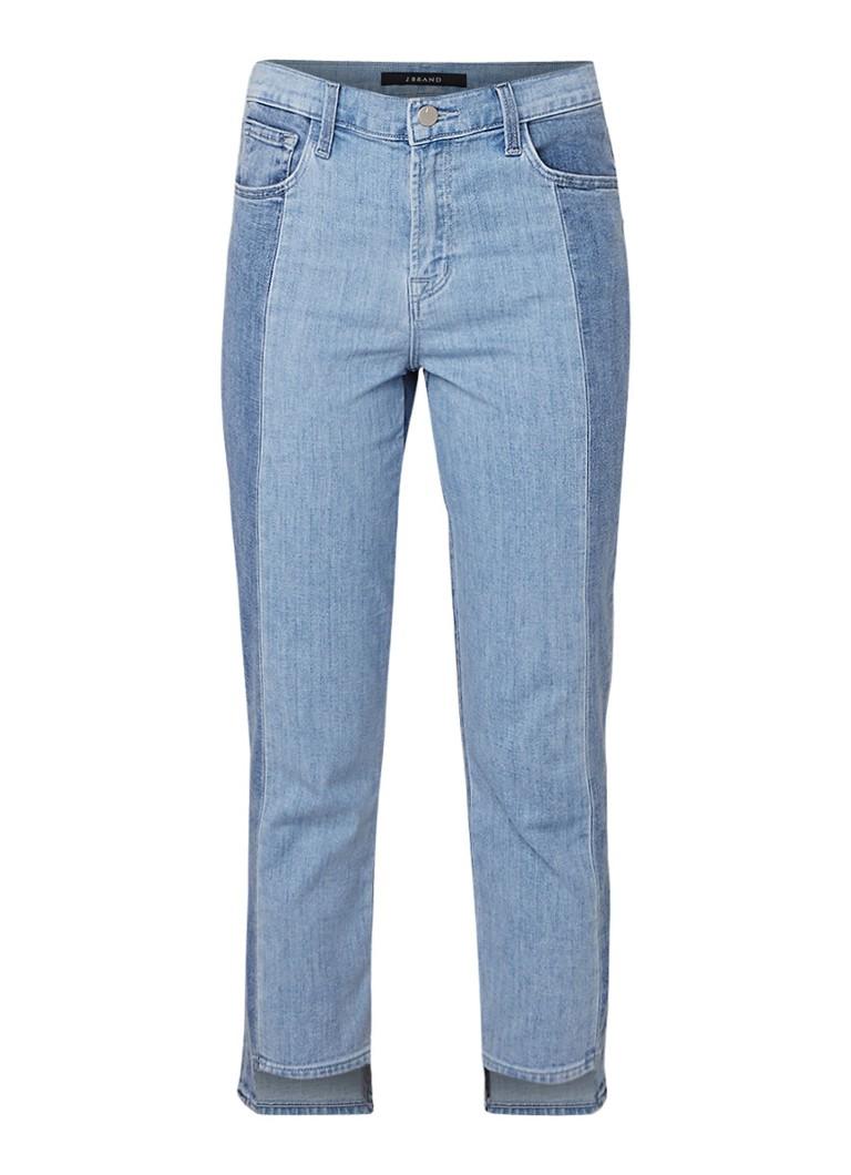 J Brand Ruby high rise cigarette fit jeans in tweekleurig denim