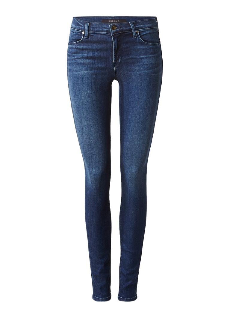 J Brand Mid rise super skinny jeans met donkere wassing