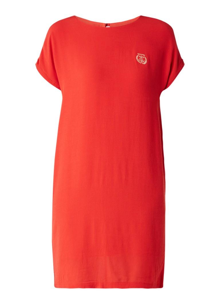 Gaastra Fija crêpe shift jurk met merkembleem rood