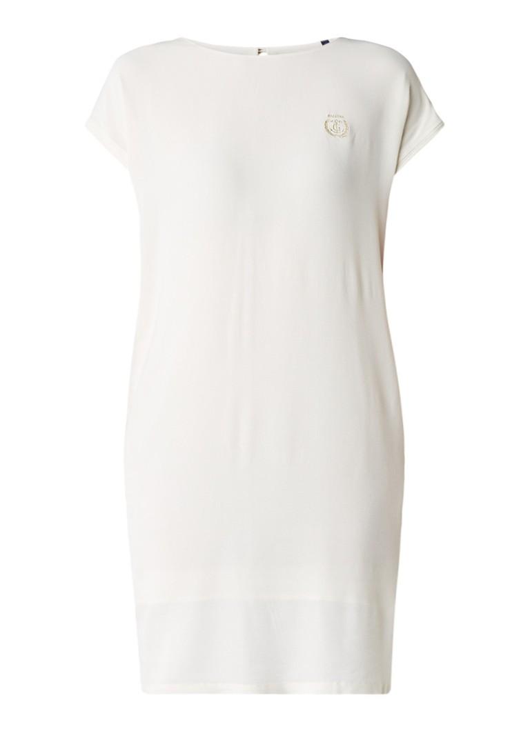 Gaastra Fija crêpe shift jurk met merkembleem gebroken wit